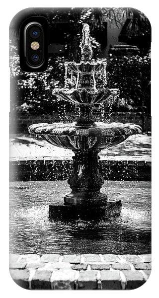 Fountain B W IPhone Case