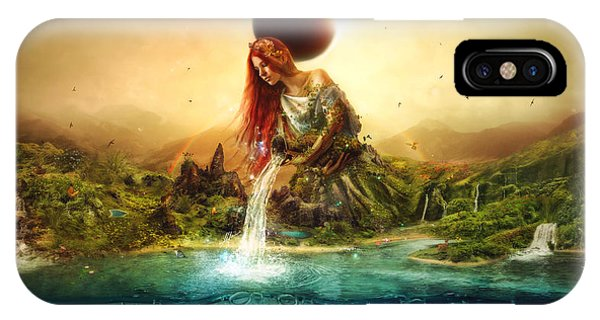 Elf iPhone X Case - Fountain Of Eternity by Mario Sanchez Nevado