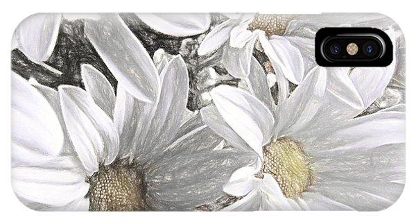 Simple iPhone Case - Four Daisies by Susan Lafleur