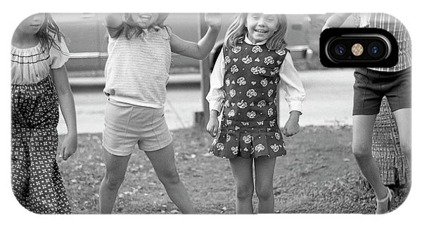 Four Girls, Jumping, 1972 IPhone Case