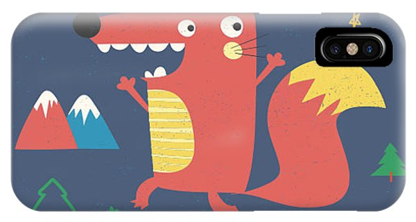 Superior iPhone Case - Fox Illustration With Slogan For Kids by Mke Design