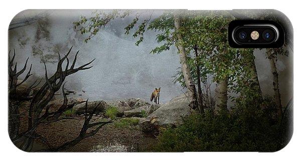 Fox On Rocks IPhone Case