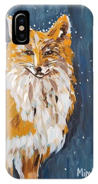 Fox Winter Night IPhone Case