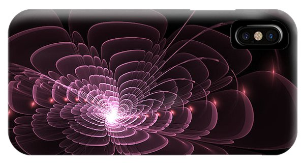 IPhone Case featuring the digital art Fractal Rose by Bee-Bee Deigner