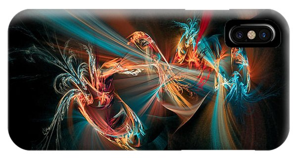 IPhone Case featuring the digital art Fractal Spawn Blue by Don Northup