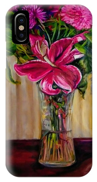 IPhone Case featuring the painting Fragrance Filled The Room by J Reynolds Dail