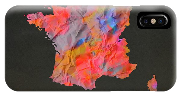 French iPhone Case - France Tie Dye Country Map by Design Turnpike