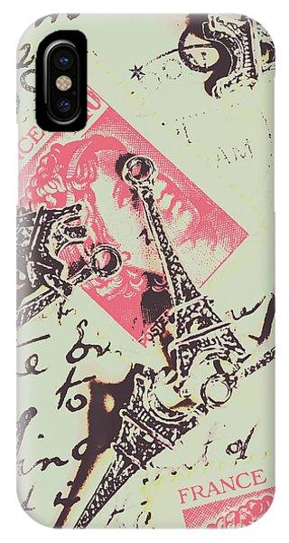 Paris iPhone Case - Francs Script by Jorgo Photography - Wall Art Gallery