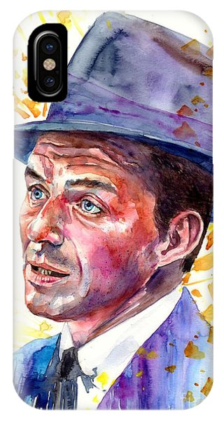 Fauvism iPhone Case - Frank Sinatra Singing by Suzann Sines