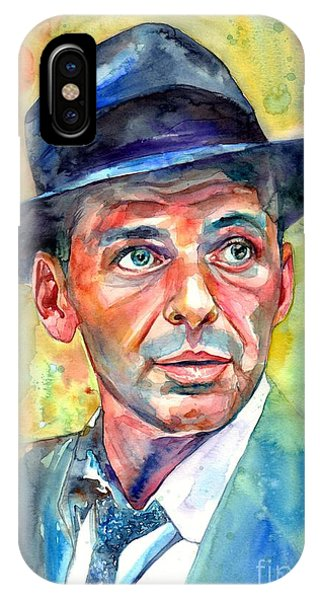 Fauvism iPhone Case - Frank Sinatra Wearing A Fedora by Suzann Sines