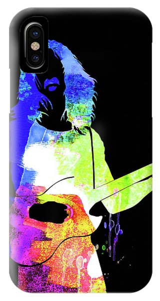 Frank Zappa iPhone Case - Frank Watercolor II by Naxart Studio