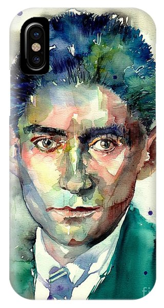 Palace iPhone X Case - Franz Kafka Portrait by Suzann Sines