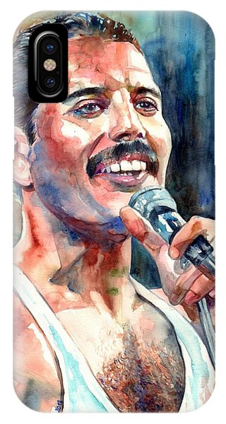 Legends Music iPhone Case - Freddie Mercury Live Aid by Suzann's Art