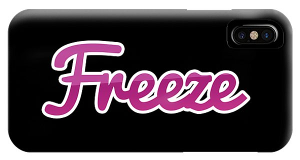 Freeze iPhone Case - Freeze #freeze by TintoDesigns