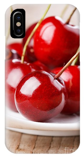 Ripe iPhone Case - Fresh Cherries by Shebeko