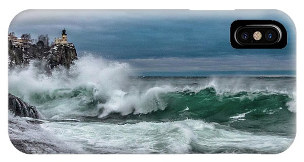 Split Rock iPhone Case - Freshwater Fury by Mary Amerman