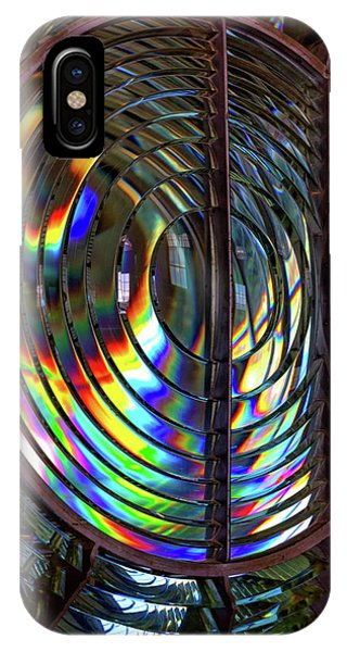 Fresnel Lens Point Arena Lighthouse IPhone Case