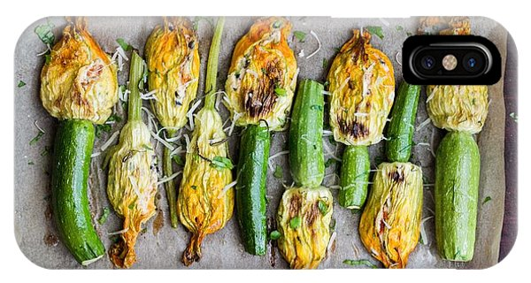 Tasty iPhone Case - Fried Zucchini Flowers Stuffed With by Lapina Maria