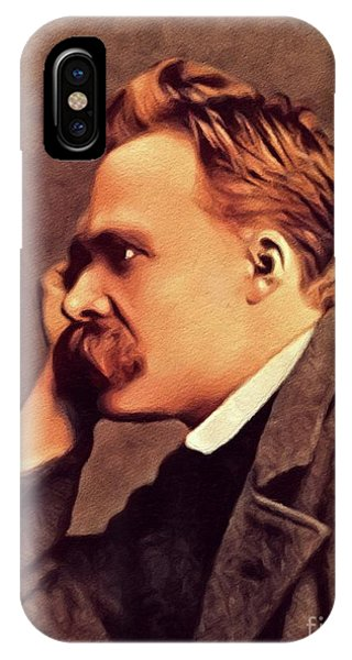 Prime Minister iPhone Case - Friedrich Nietzsche, Philosopher by John Springfield