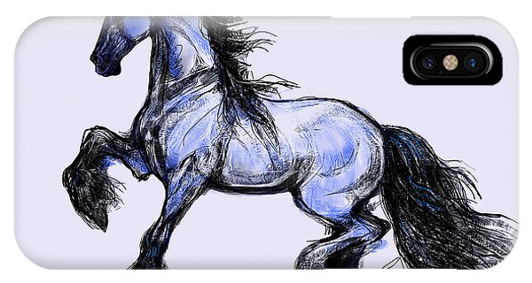 Friesian Mare IPhone Case