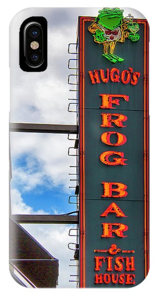Oyster Bar iPhone Case - Frog Of The Gold Coast Chicago by William Dey