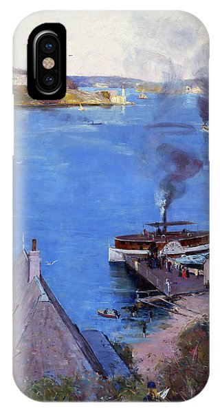 Fare iPhone Case - From Mcmahon's Point, Fare One Penny - Digital Remastered Edition by Arthur Streeton
