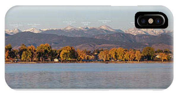 Indian Peaks Wilderness iPhone Case - Front Range With Peak Labels by Aaron Spong