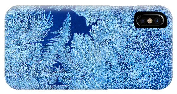 Horizontal iPhone Case - Frost Patterns On Window Glass by Andrey Krepkih