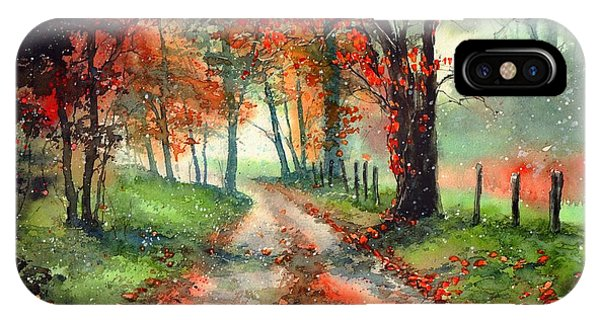 Cold iPhone Case - Frosty Autumn Patch by Suzann Sines