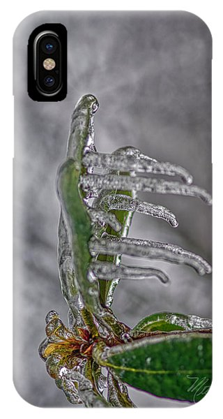 IPhone Case featuring the photograph Frozen Leaf by Meta Gatschenberger