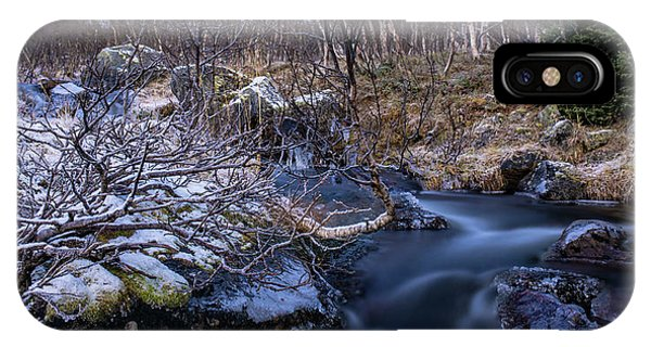 Frozen River And Winter In Forest IPhone Case