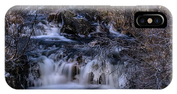 Frozen River In Forest - Long Exposure With Nd Filter IPhone Case