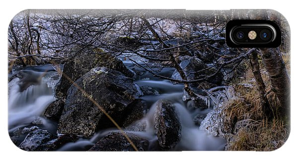 Frozen Stream In Winter Forest IPhone Case