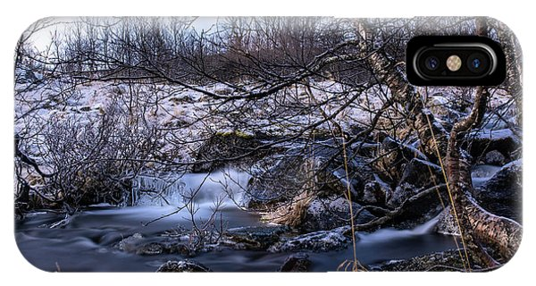 Frozen Tree In Winter River IPhone Case