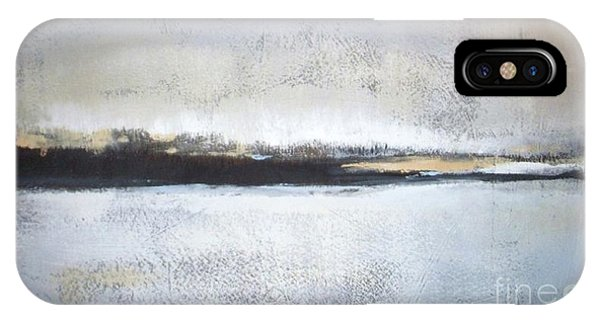 Abstract Modern iPhone Case - Frozen Winter Lake by Vesna Antic