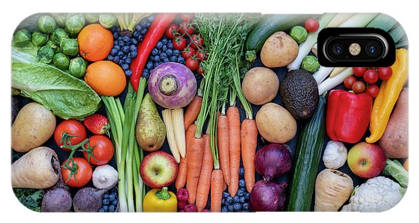 IPhone Case featuring the photograph Fruit And Vegetables by Tim Gainey