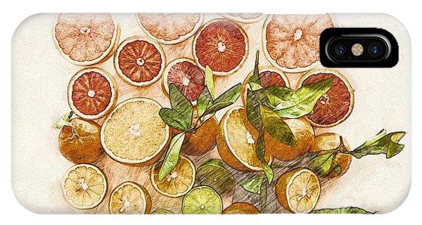 Grapefruit iPhone Case - Fruits Mix by ArtMarketJapan