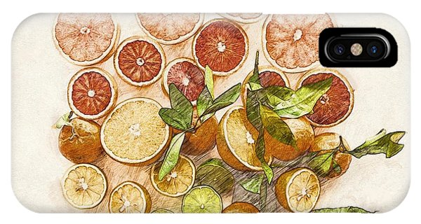 Grapefruit iPhone Case - Fruits Mix by ArtMarketJapan