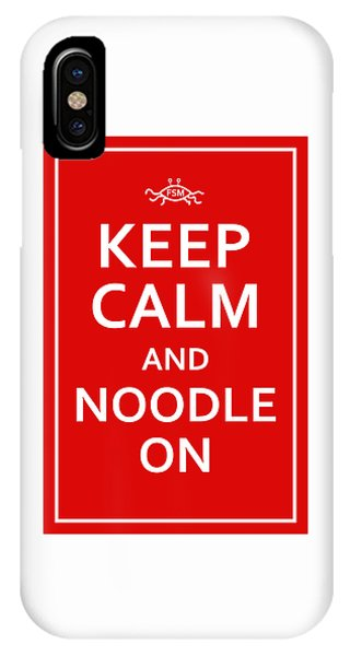 Fsm - Keep Calm And Noodle On IPhone Case