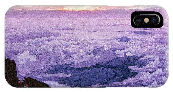 Dark Violet iPhone Case - Fuji 10view, Dawn - Digital Remastered Edition by Yoshida Hiroshi
