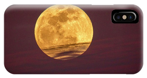Full Moon Above Clouds IPhone Case