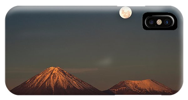 Full Moon iPhone Case - Full-moon In The Moon Valley. Volcanoes by Ksenia Ragozina