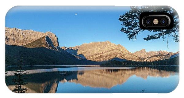 Full Moon Over Upper Kananaskis Lake IPhone Case