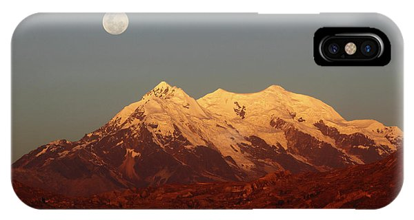 Full Moon Rise Over Mt Illimani IPhone Case