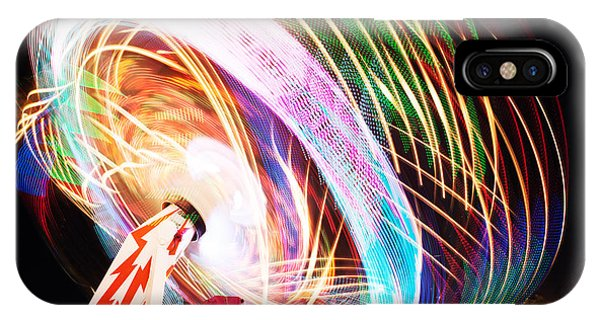 Spin iPhone Case - Fun Fair, Long Exposure. Colourful by David Mg