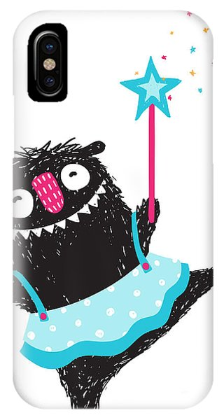 Small iPhone Case - Fun Monster Dancing Princess Humorous by Popmarleo