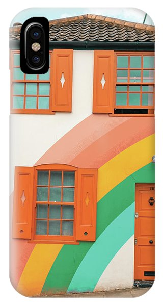 Funky Rainbow House IPhone Case