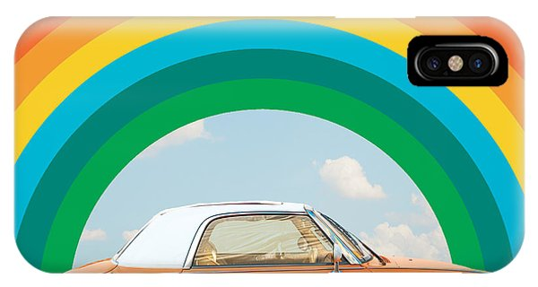 Funky Rainbow Ride IPhone Case
