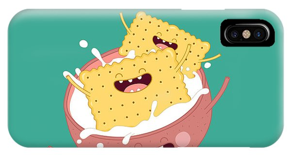Funny A Cookies Swimming In A Cup With Phone Case by Serbinka