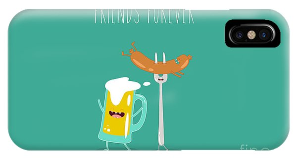 Ingredient iPhone Case - Funny Beer With Sausage. Vector by Serbinka
